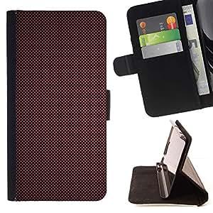 For Samsung Galaxy E5 E500 Case , Textura roja- la tarjeta de Crédito Slots PU Funda de cuero Monedero caso cubierta de piel