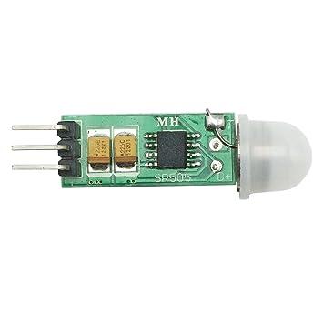 whataval am-097 Mini IR piroeléctrico infrarrojo PIR Movimiento Humano Sensor Detector de módulo SR505