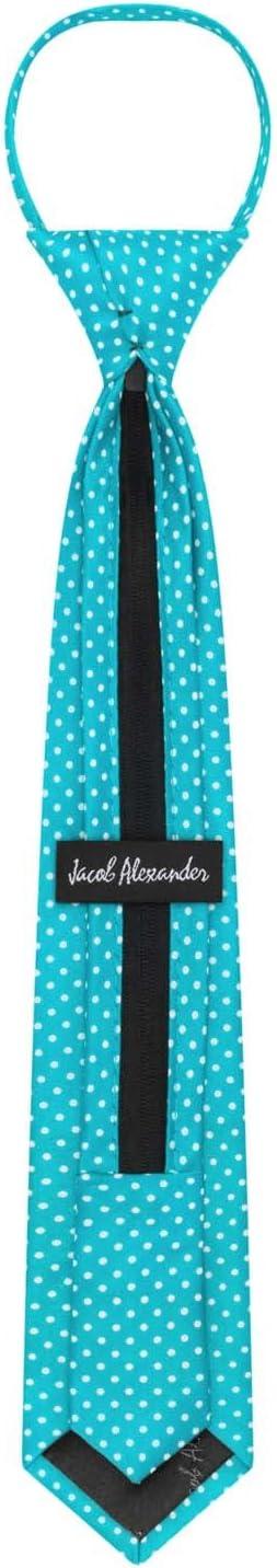 Black Jacob Alexander Polka Dot Print Boys 14 Polka Dotted Zipper Tie