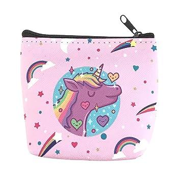 Leisial - Monedero para niña, diseño de Unicornio, PVC, F ...