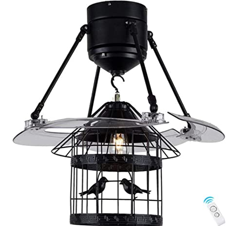 Ventilador de techo con lámpara de luz 122 cm ABS invisible Muto ...