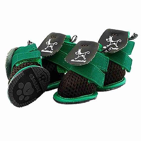 Zapatos para perros mascotas transpirable velcro Botines Botas Negro Sz 1