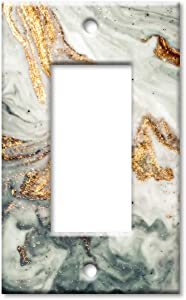 Art Plates 1 Gang Decora - GFCI Wall Plate - Gold Granite