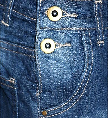 bambina lunghezza anni per 14 denim blu bambina Tuta vestitino da 3 scuro in wvg0nOtq