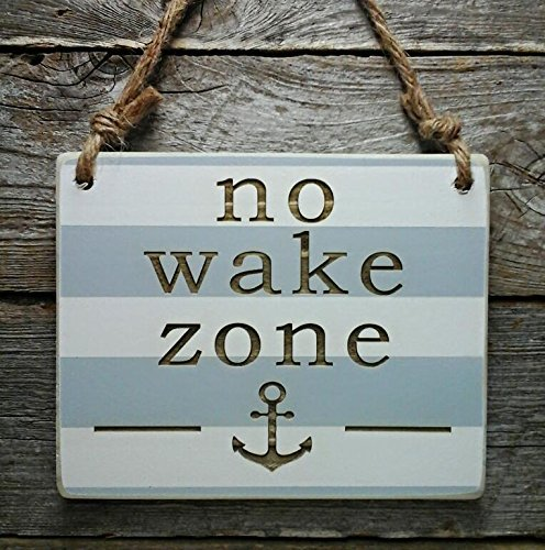 No wake zone baby shower gift nursery sign baby for Home decor zone