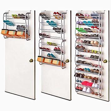 3475ae1c0f22a Vinteky 36 Paire Support de rangement étagère à chaussures pour Organisateur  à Suspendre sur Porte Stockage