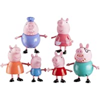 iDream Kid's PVC Pig Family Toy Set Action Figure 9cm and 5.8cm (Set of 6)