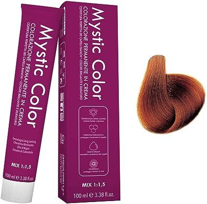 Mystic Color - Coloración Permanente en Crema con Aceite de Argán y Caléndula - Color Natural y Duradero - Tono 7.43 Rubio Cobre Dorado - 100 ml