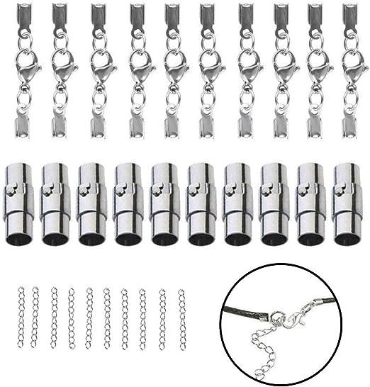 Healifty 20pcs Broches magn/éticos de bisuter/ía cierres para pulseras collares material Plata