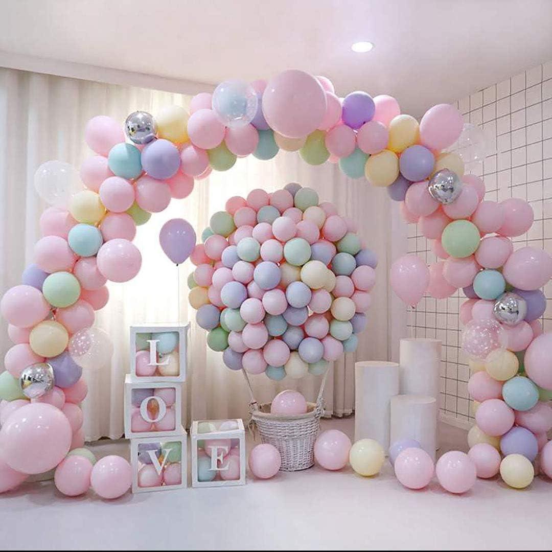 Ballon Girlande Kit 120 St/ücke Latex Farbige Ballons Hochzeit Geburtstag Party Deko Baby Shower Bachelorette Party Hochzeits Dekorationen Macaron Farbe-120
