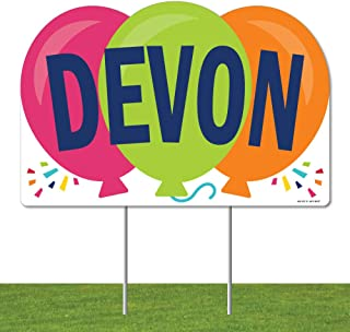 product image for Big Dot of Happiness Personalized Cheerful Happy Birthday - Lawn Party Decorations - Custom Colorful Birthday Party Name Yard Sign
