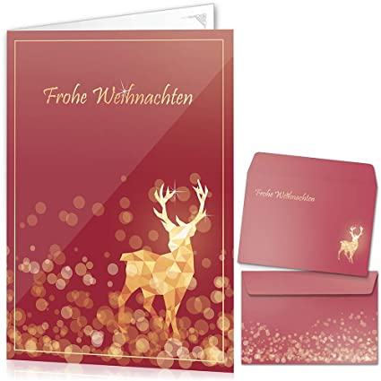 5,9 x 3,9 Pollici WIFIGDS 48pcs Merry Christmas Biglietti di Auguri Realizzati a Mano Cartolina di Auguri Xmas Kraft Carta con Buste per Natalizi