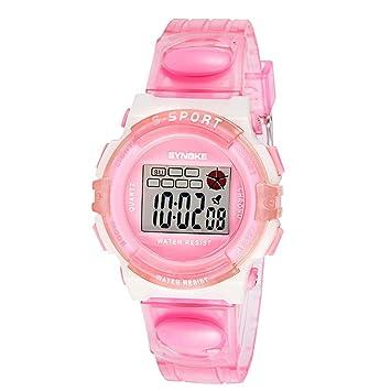Reloj para NiñOs,Feixiang ♈Rubber Digital Led Reloj De Pulsera Reloj para NiñAs NiñO NiñOs Los NiñOs De Los Relojes Digitales,Resistente Al Agua: ...
