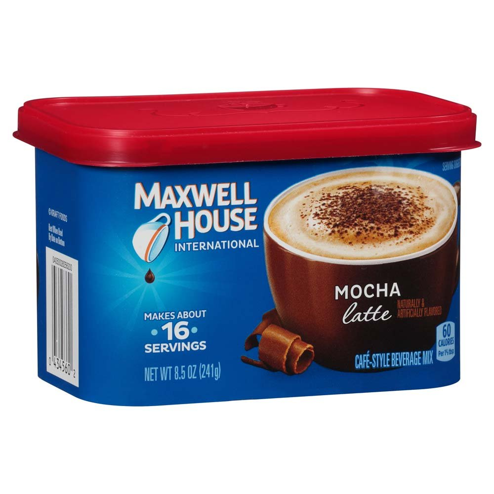 Maxwell House International Cafe Instant Mocha Latte (8.5 oz Canister, Pack of 6)