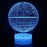 Night Light 3D Lamp Optical Illusion Night Light Kids Night Light 7 Colors Change LED Touch Table Desk Lamps for Boys Girls Bedroom Birthday Gifts Business Gift