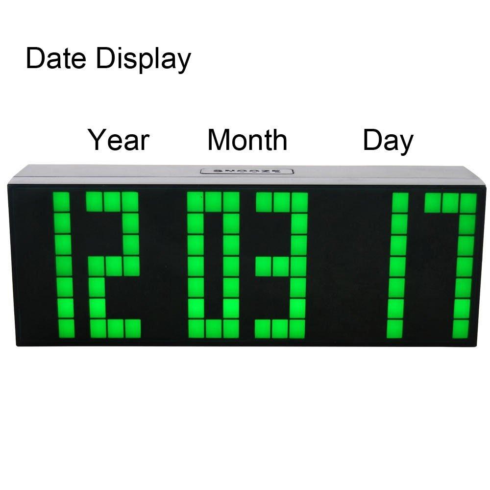 LambTown Reloj de Cuenta Atrás del Temporizador Digital con Termómetro Fecha Luz de Noche - Verde: Amazon.es: Hogar