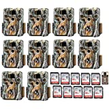 Browning Trail Cameras Ten BTC-5HDP Strike Force HD Pro Trail Game Camera w. 10 32GB Cards & Focus Reader