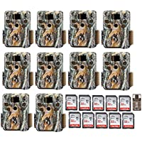 Ten Browning Trail Cameras BTC-5HDP Strike Force HD Pro Trail Game Camera w. 10 32GB Cards & Focus Reader