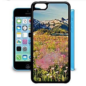 Bumper Phone Case For Apple iPhone 5C - Your Mountain Is Waiting Travel Adventure Snap-On Protective