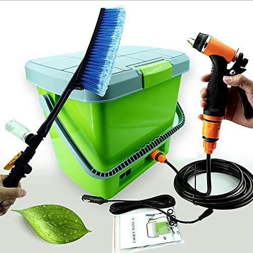 Portable Car Washer, 12V Portable High Pressure Car Sprayer Washer Cleaner Tool Kit Power Water Pump Wash Kit
