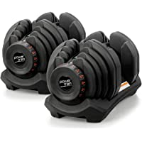 Pair Powertrain Adjustable Dumbbell Set - 80kg total weight