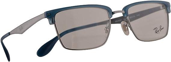 Ray-Ban RB 6397 Gafas 52-19-140 Plateado Con Lentes De Muestra 2934 RX RX6397 RB6397: Amazon.es: Ropa y accesorios
