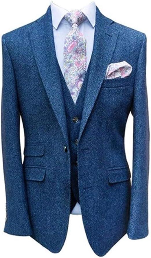 Amazon.com: Traje de espiga para hombre Tweed – Slim Fit ...