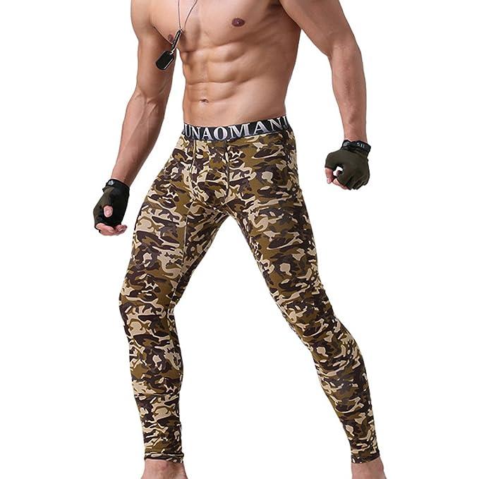 Hombre Térmico Ropa Interior Invierno Cálido Pantalones Suave Stretch Leggings de Algodón Largo Calzoncillos para Trabajo