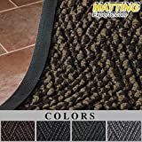 Entrance Runner Water Absorbing Rug Carpet-like Diamond Pattern Mat 3/8'' thick for Hotel Office Lobby Hallway F064 (4'x6', Gray)
