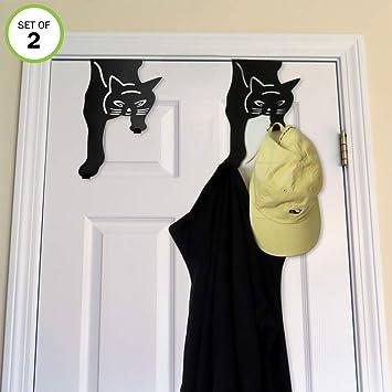 Amazon.com: Evelots - Gato negro sobre la puerta doble ...