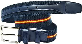 ALBERO Cinturón COPS azul, piel, elástico, Blue Line: Amazon.es ...