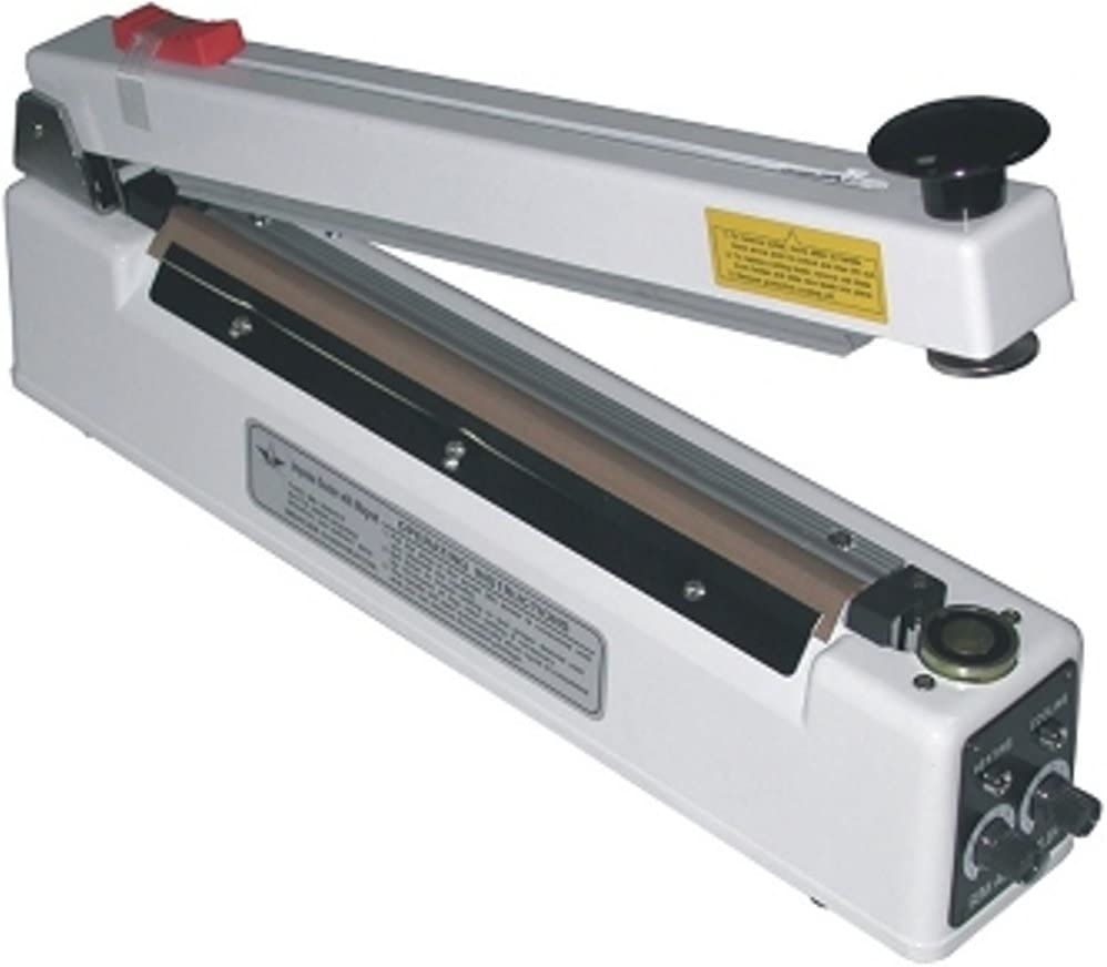 800 Watts Material Thickness 2 mm Seal Width American International Electric AIE-600T2 24 Impulse Sealer Lightweight Construction 24 Inches Max Seal Length Sturdy Steel 6 Mil Max