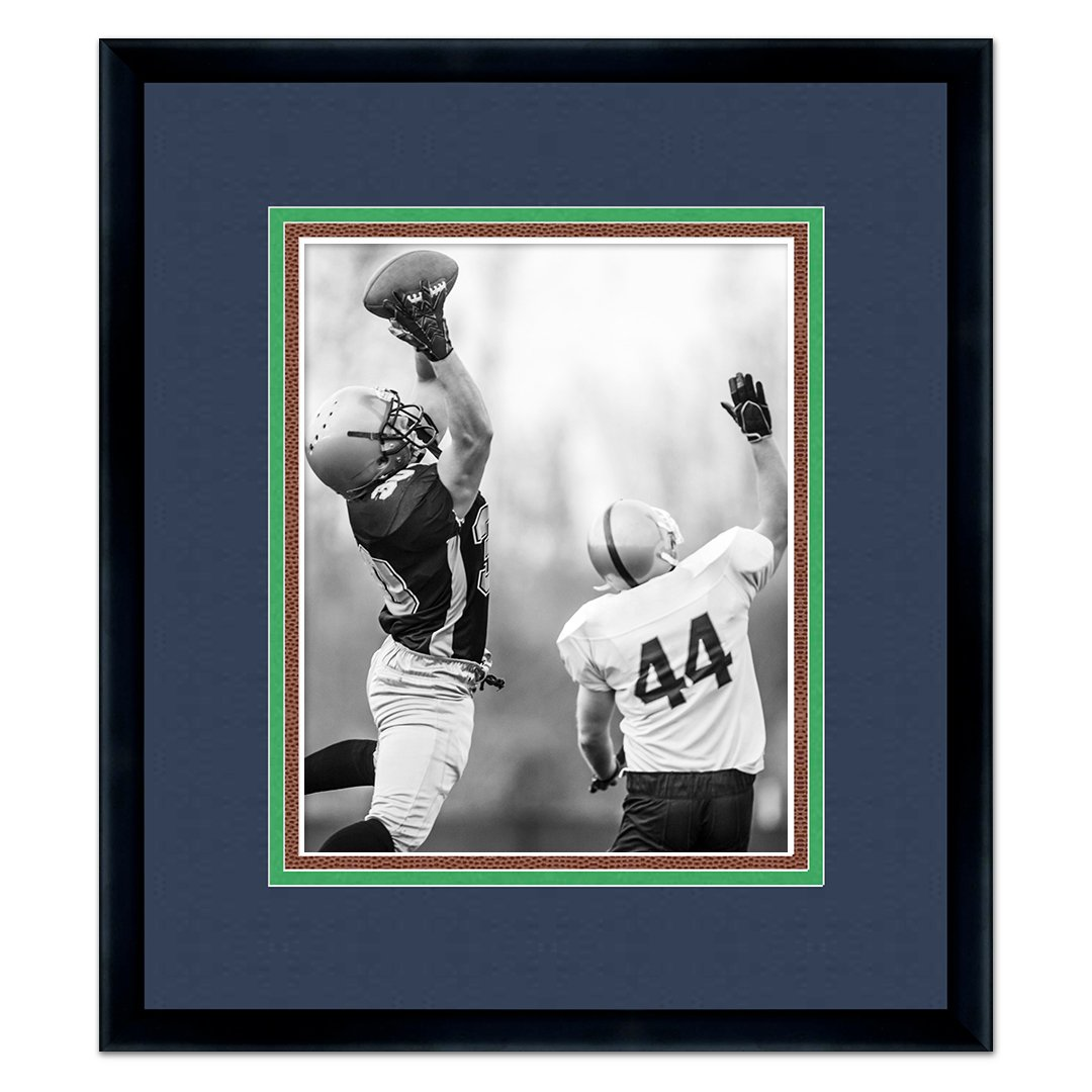 info for ba984 41b68 Seattle Seahawks Black Wood Frame for a 8x10 Photo with a Triple Mat  College Navy, Action Green, Football Textured Mats