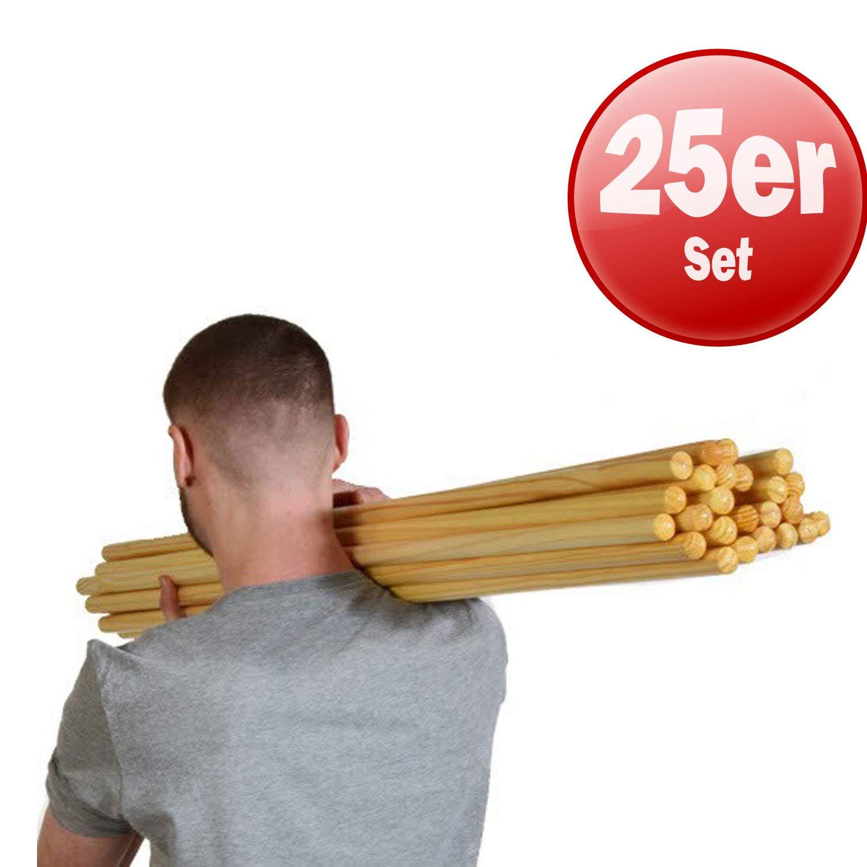 Kawanyo legno rundstab–100cm–Singolo e Kombi OFFERTA | ginnastica Stab Turn Stab bastone di legno Training Stab Natura, 1er CJ Sports GmbH