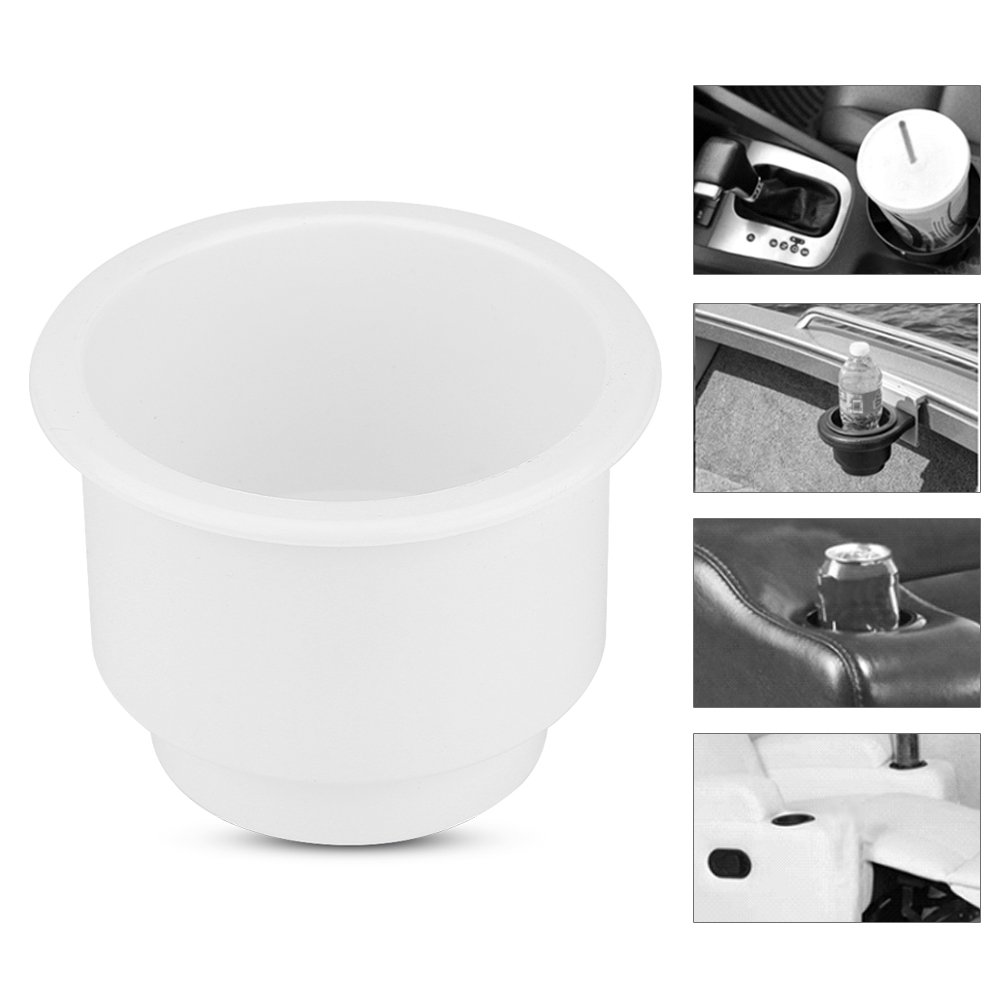 Black Plastic Cup Drink Holder for Boat Universal Drink Bottle Can Cup Holder Insert Marine with Insert Drain Hole for Marine Rv Boat Yacht Car
