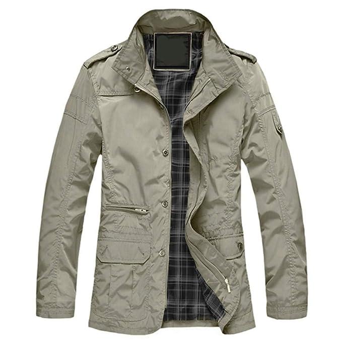 CFDS Giacche Uomo 5XL Plus Size Primavera Autunno Giacca da Uomo di Alta  qualità Mens Outwear Zipper Casual Giacca A Vento 80fb0ee6d34