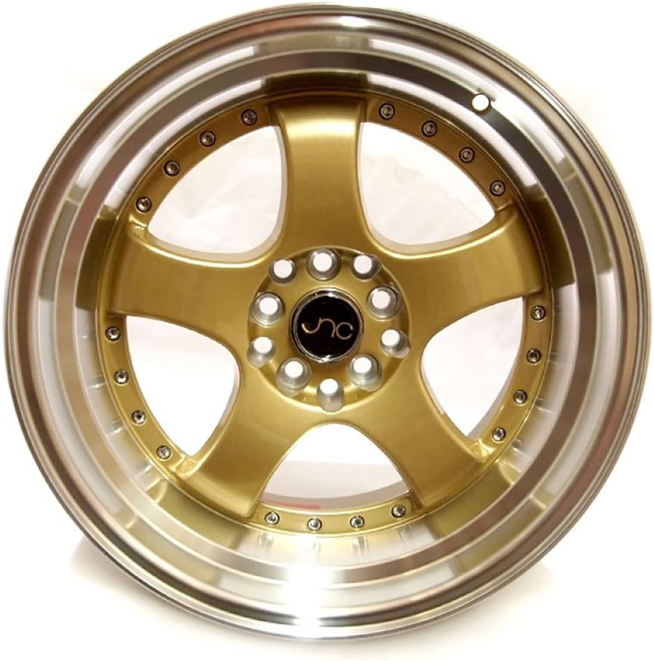 17 JNC017 Gold Machined Lip Rim 5x100//5x114.3-17x9 inch JNC Wheels