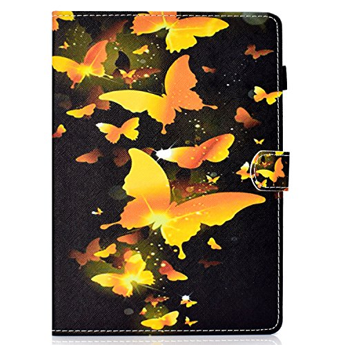 Kindle Paperwhite Case, Amazed-Cases(TM) Ultra Slim PU Leather Flip Stand Auto Wake/Sleep Smart Cover for All Amazon Kindle Paperwhite 1/2/3 (2012/2013/2015/2016 Version) (Gold Butterflies) by Gift-Hero(TM)