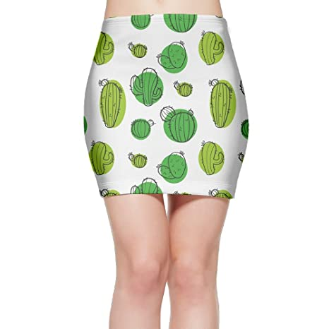 BSQDM-1204 Cacti Womens Sexy High Waist Tight Short Skirt Pencil Skirt at Amazon Womens Clothing store: