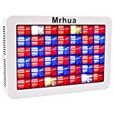 Plant LED Grow Light Full Spectrum 600W, Reflector LED Grow Lamp with Dasiy Chain, for Greenhouse Hydroponic Indoor Plant Growth by Mrhua 168pcs LEDs