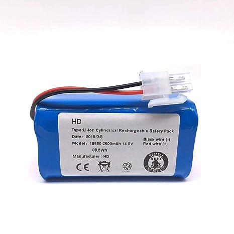 Ballylelly 14.8 V 2800 Mah Robot Aspiradora Paquete de batería de ...