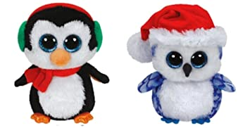Amazon.com: Ty Icicles & North Christmas Beanie Boos Set of 2 ...