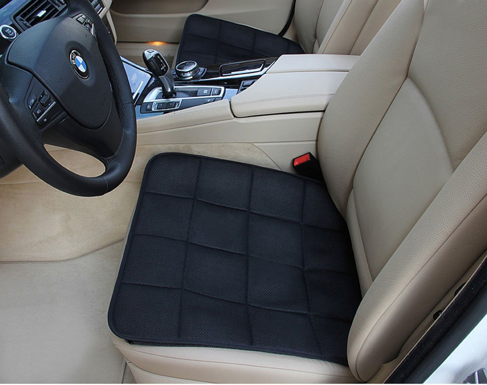 Top Star Store Car Seat Covers Premium Car Seat Cushion Bamboo Charcoal Breathable Seat Cushion Cover Pad Mat for Auto Car Office Chair (Black)