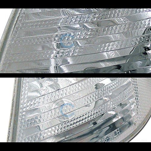Topline Autopart Crystal Clear Signal Parking Corner Lights Lamp Yd 99-01 Bmw E46 3-Series 4D 4Dr