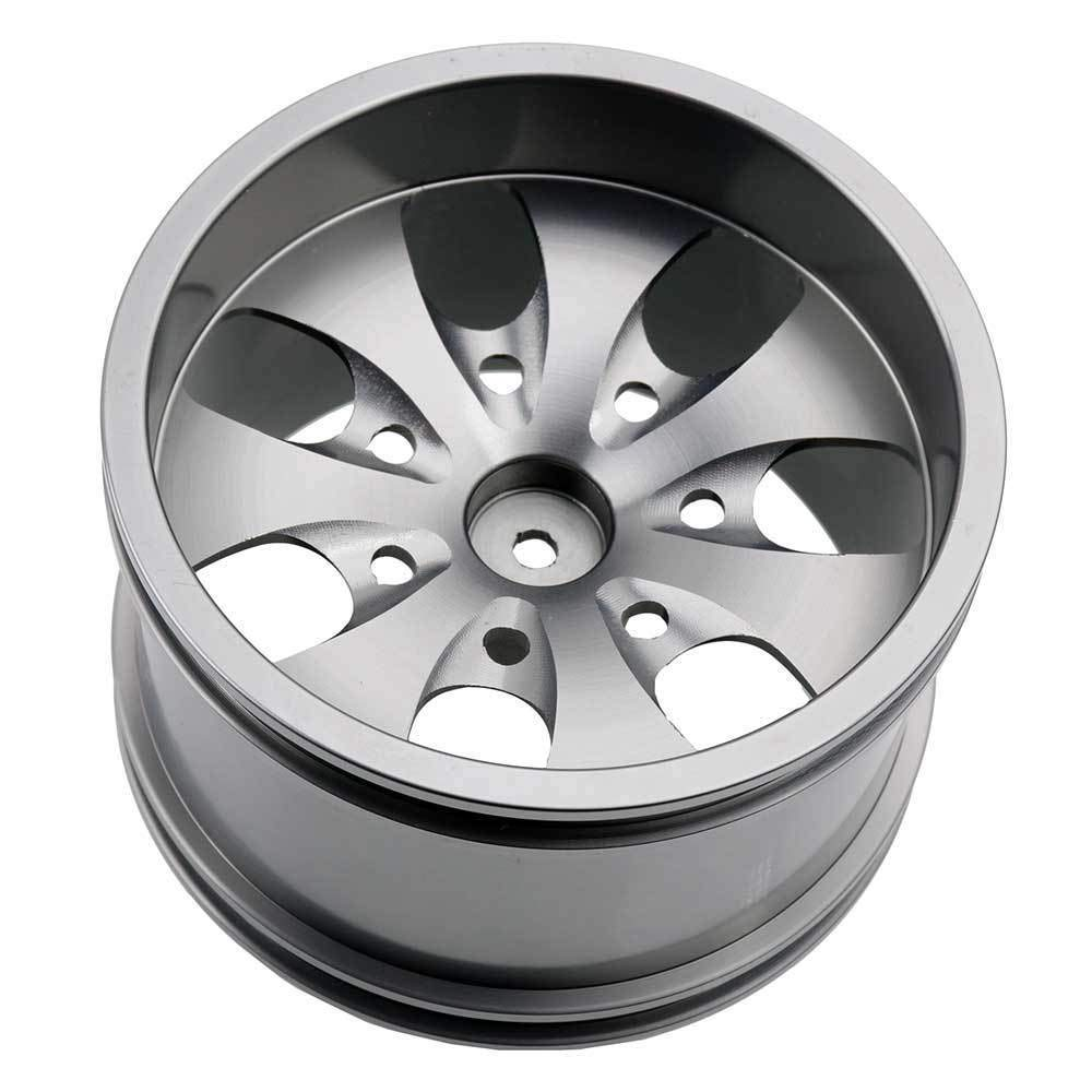 Toyoutdoorparts RC 08008N Alumiunm Gray Wheels 4pcs for RedCat 1:10 Nitro Volcano S30 Truck by Toyoutdoorparts (Image #3)