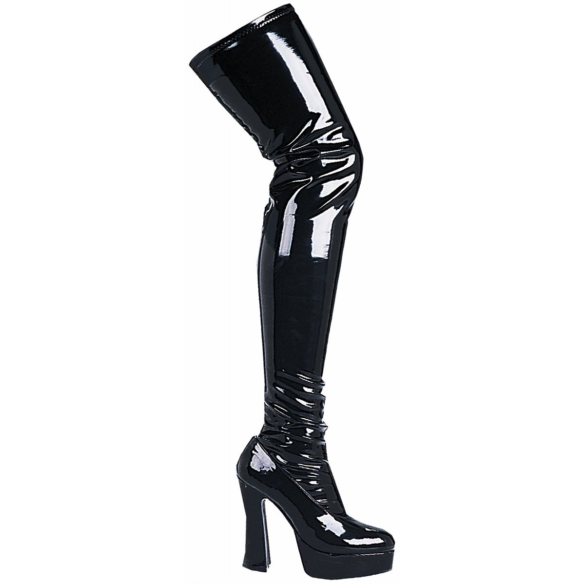e4152cf5fdec5 Amazon.com: Thrill Thigh High Boots Adult Shoes Black - Size 11 ...