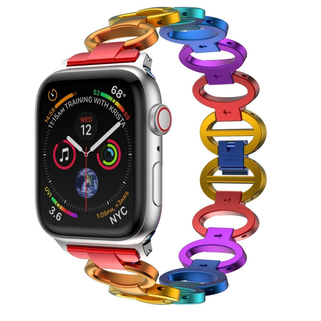 Sonmer Luxury Aluminium Alloy Replacement Colorful Watch Band For Apple Watch Series 4 (40mm)