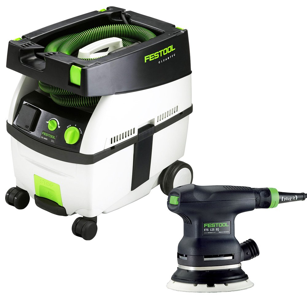 Festool PI571817 5 in. Random Orbital Finish Sander with CT MIDI HEPA 3.3 Gallon Mobile Dust Extractor