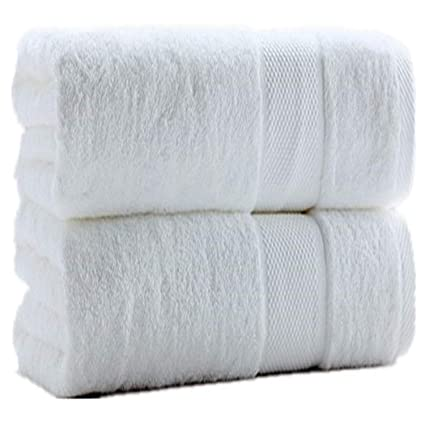 Bath Sheets 2pack, White BeddingCareUk White Bath Sheets Pair Jumbo 90x140cm Extra Large Pack of Two Super Soft 100/% RingSpun Cotton Bale Set Lint Free Hotel Quality Absorbent