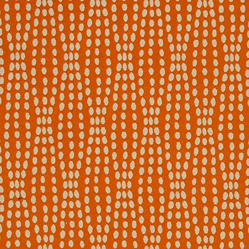 Tiger Lily Orange Neutral Contemporary Modern Matelasse Upholstery Fabric by The Yard (Lily Tiger Drapes)